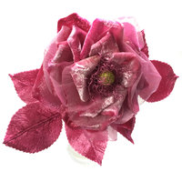 Anne Tomlin Flower making – velvet winter rose
