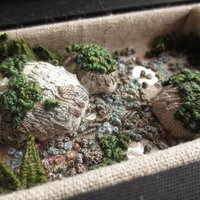 Fleur Oakes Hand embroidery – gardens and nature in stumpwork