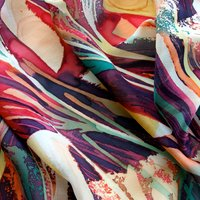 Isabella Whitworth Silk scarves – developing pattern