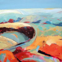 Maggie Feeny Abstracting the landscape with acrylics