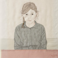 Emily Jo Gibbs Textile pictures with silk organza appliqué and hand stitching