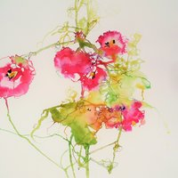 Christine Forbes Watercolour – the floral extravaganza of West Dean Gardens