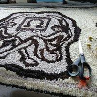 Debbie Siniska Creative rug hooking with found fabrics