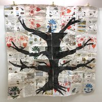 Anne Kelly Folk Bird Tree