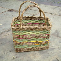 Mary Butcher Willow basketmaking – round or square baskets with lids