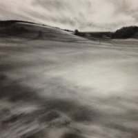 Kate Boucher landscape drawing with charcoal