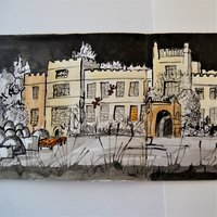 Freya Pocklington Creative ink drawing