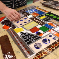 Sasha Ward Stained glass – lines, textures and transparent colours