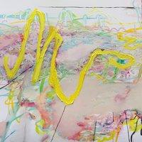 Emily Ball Floribunda – expressive mixed media painting