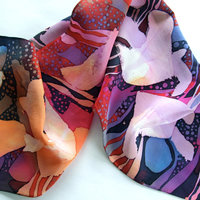 Isabella Whitworth Silk scarves – brilliant with pattern