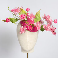 Anne Tomlin Button hat with handmade flowers