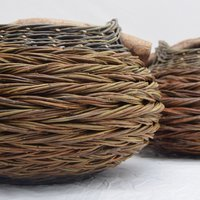 Sue Kirk herringbone baskets