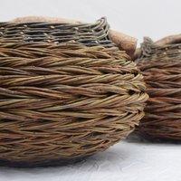 Sue Kirk herringbone baskets