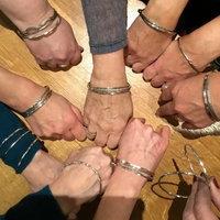 Make three silver bangles