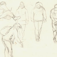 Andrew Fitchett - drawing people on the move