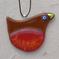 Martin Cheek Fused glass decorations