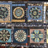 Joanna Veevers Creative mosaics with found ceramic materials