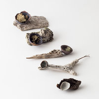 Elaine Bolt Ceramics with found objects