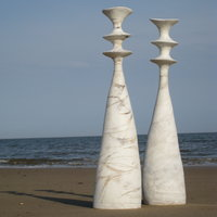 Claire Ireland Hand building large scale sculptural ceramics