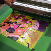Jane Sampson Painterly silk-screen printing