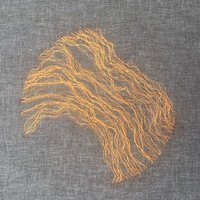Hanny Newton Sculptural goldwork: branches, roots, and veins