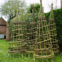 Dominic Parrette Willow plant supports and obelisks