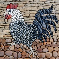 Sue Rew Pebble mosaics – a creative garden feature