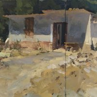Tim Patrick Drawing to painting in oils – inspired by West Dean