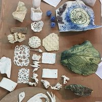 Lucy Cobb Organic additions to clay surfaces – sculptural ceramics