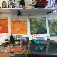 Heike Roesel Acrylic resist etching