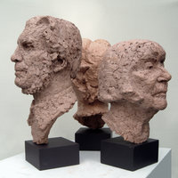 Jon Edgar Portrait heads in terracotta – a visual approach