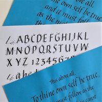 Mary Noble Calligraphy in italics