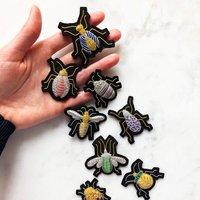 Hannah Mansfield Goldwork beetle brooches