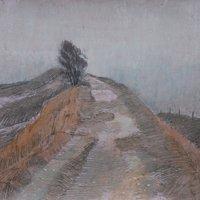 Robert A Newell Landscape drawing
