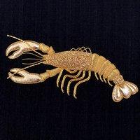 Hannah Mansfield Goldwork lobster