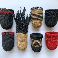 Mary Crabb Small-scale twined baskets