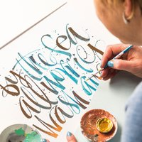 Kirsten Burke Modern brush calligraphy