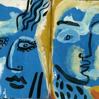 Chris Gilvan-Cartwright Expressive portrait painting – colour and abstraction