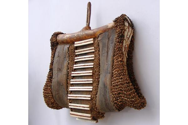 Willow bark basketry by Maggie Smith