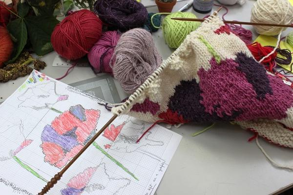 Hand knitting short courses at West Dean College