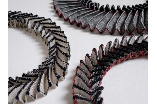 Chevron neckpiece by Anne Richards