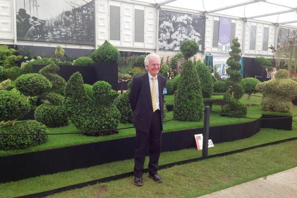 James Crebbin-Bailey, topiary specialist and Gold Medal winner (2011 and 2012), RHS Chelsea Flower Show