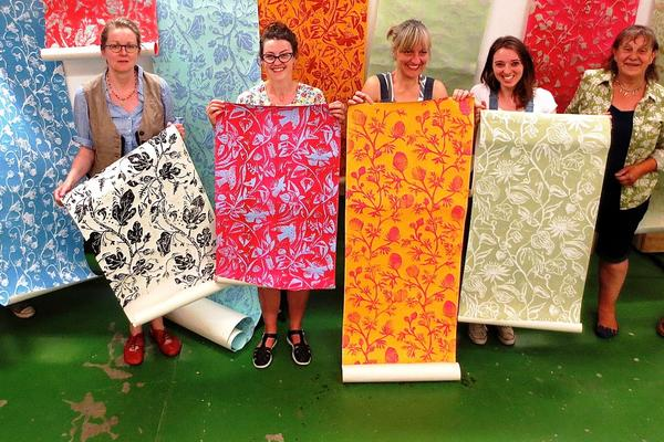 Artist and printer Hugh Dunford-Wood also teaches printing on fabric, paper and wallpaper