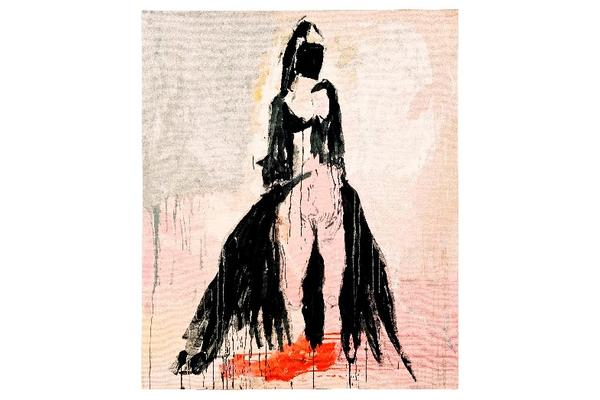 Black Cat by Tracey Emin handwoven at West Dean Tapestry Studio