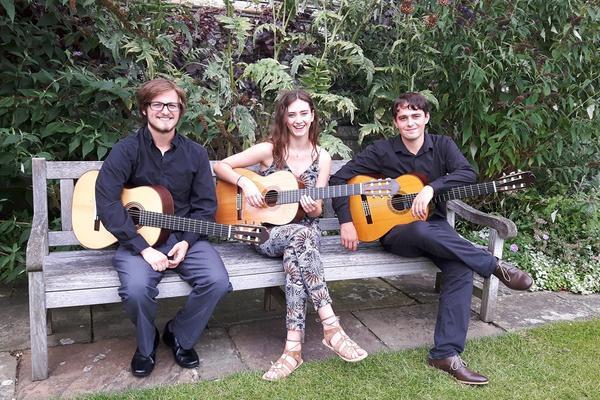 International Guitar Festival 2016 (L to R students, R Kianush Robeson, Zoe Barnett and Alex Roche)