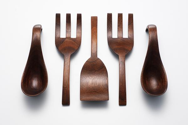 Nic Webb spoons and fork slice