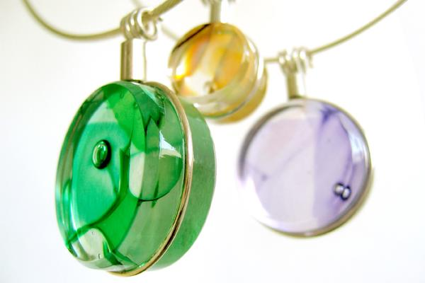 Katrina Beattie 2015 Glass Disc Pendants
