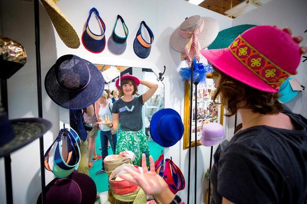 West Dean College Design and Craft Fair hat display