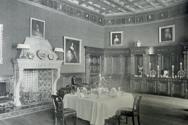 West Dean House State Dining Room circa 1900