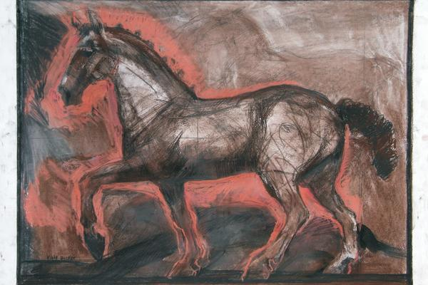 Kate Dicker: Horse in Charcoal